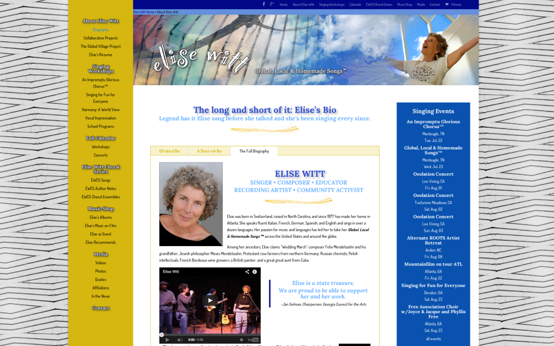 Web Design for Elise Witt