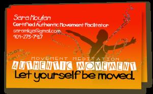 poster design authentic movement