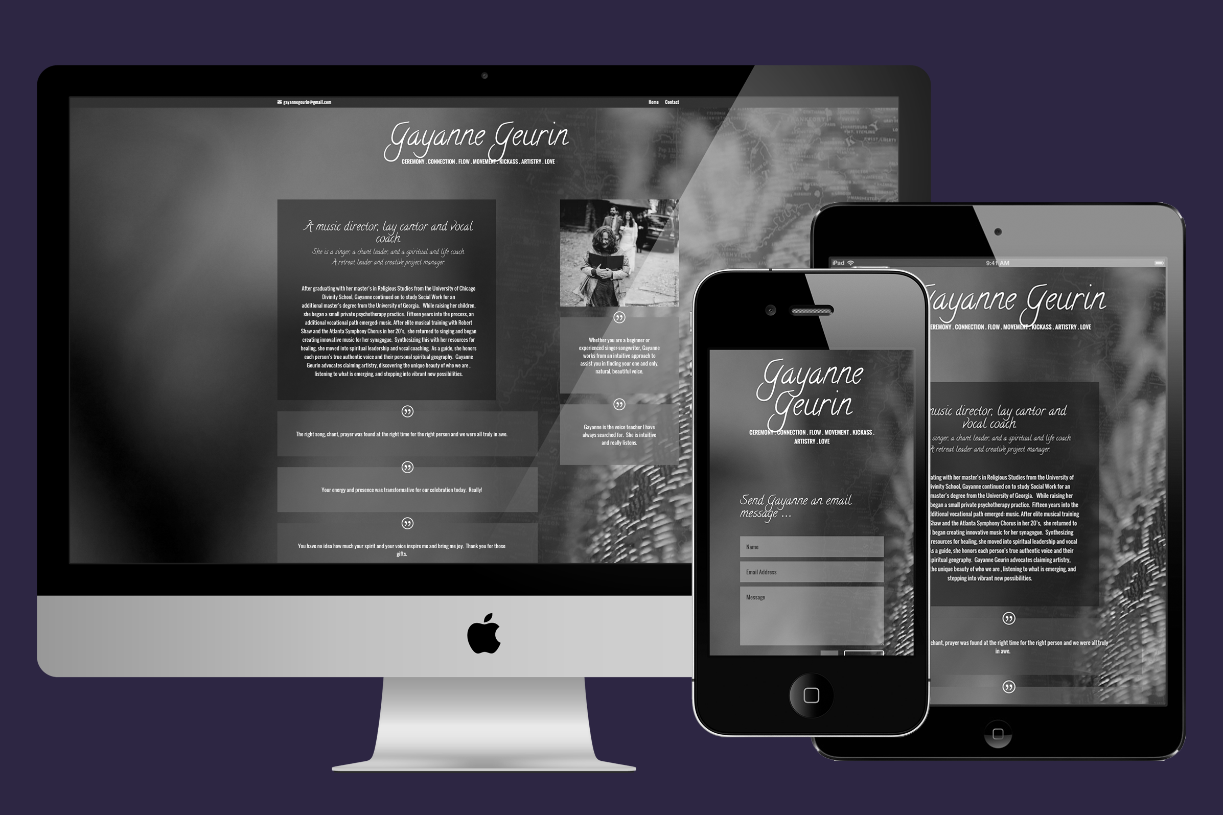 Website Designer for Gayanne Geurin