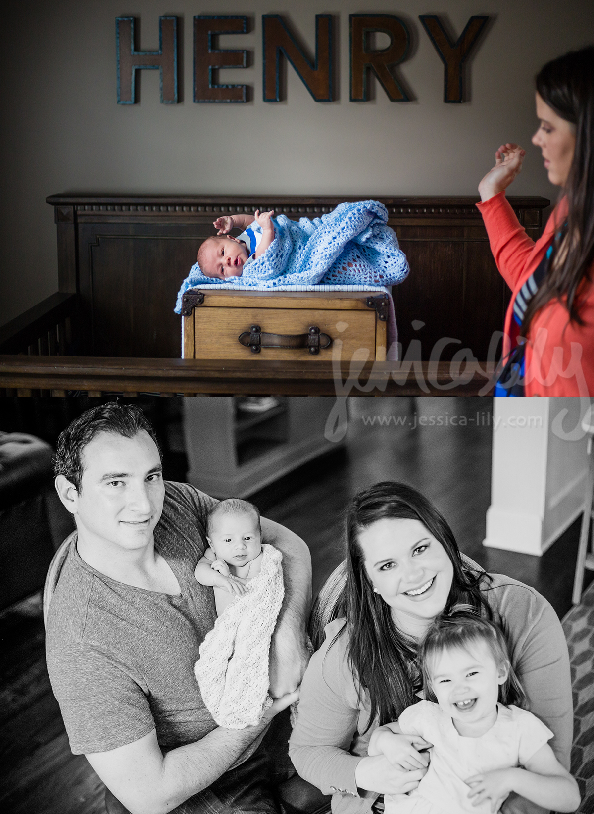 Newborn Family with Jessica Lily