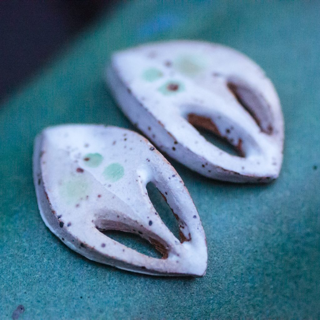 Jessica Lily Ceramics - White Earrings